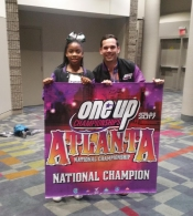 Cheer Omega Leah and her Coach