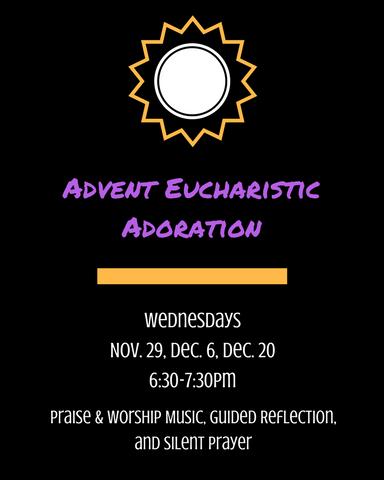 Advent Eucharistic Adoration Bulletin Graphic